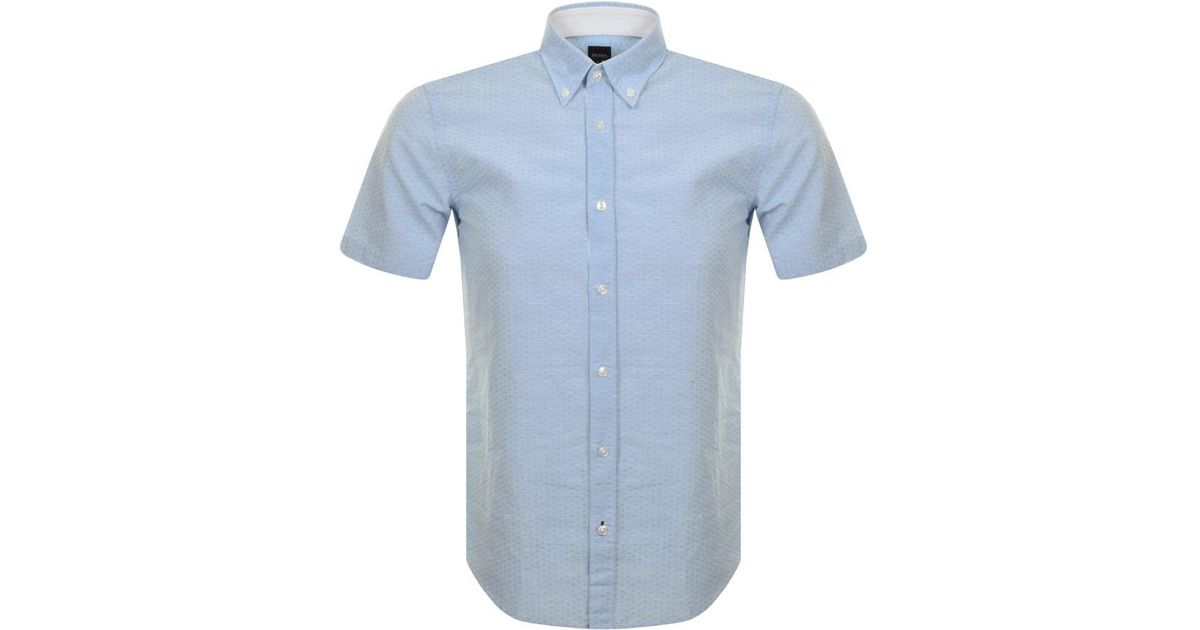 585977d67 BOSS Roddy 21 Shirt Blue in Blue for Men - Lyst