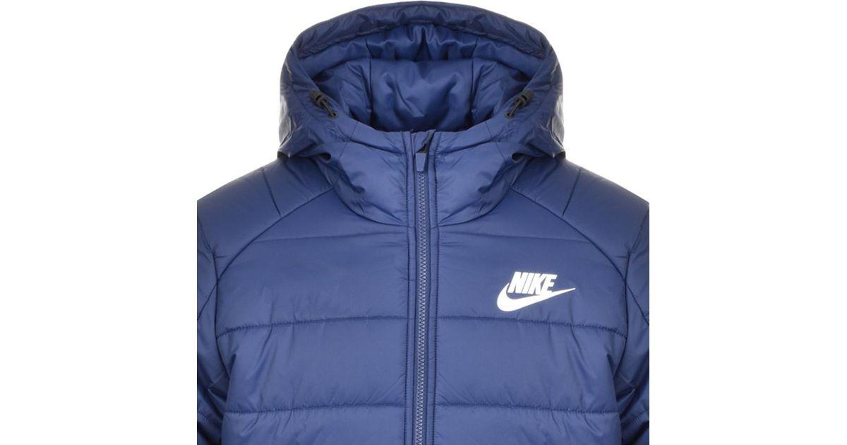 31351e4f9c48 Lyst - Nike Hooded Padded Jacket Blue in Blue for Men