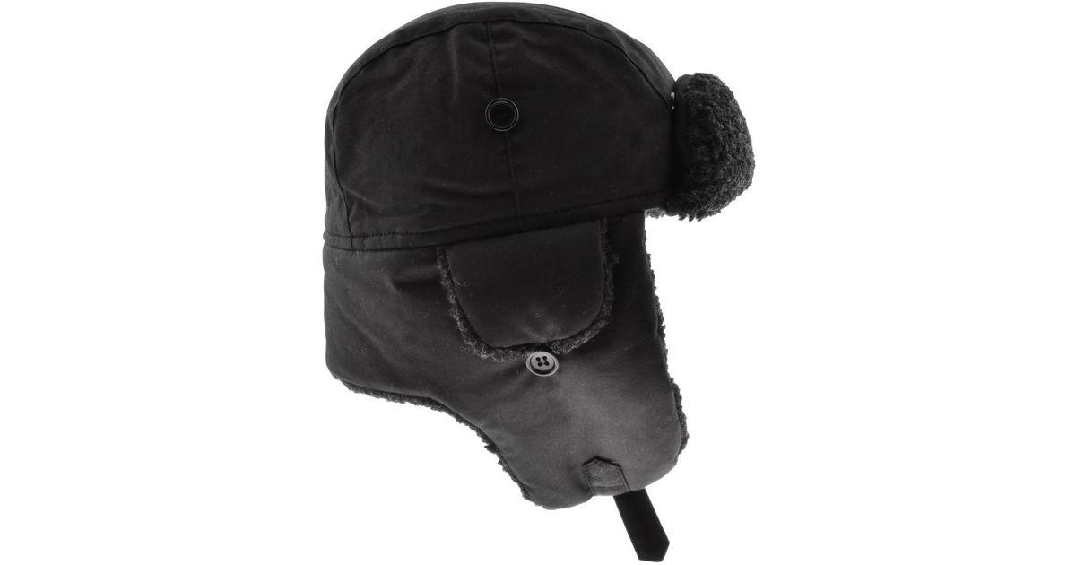 3eb22eb3e45b7 Lyst - Barbour Fleece Lined Trapper Hat Black in Black for Men