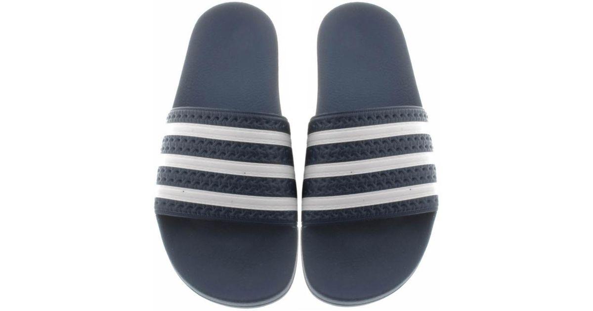 60e25e37de8f Lyst - Adidas Originals Adilette Sliders Navy in Blue