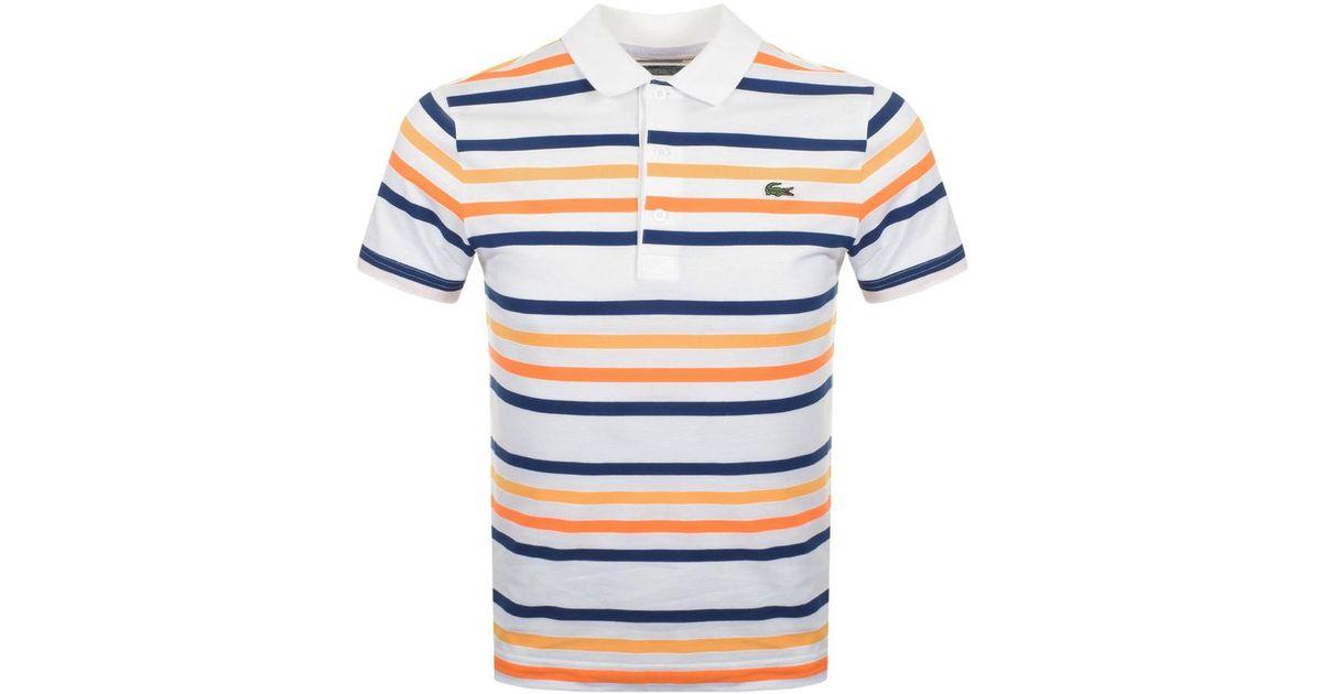 1d0c4dae Lyst - Lacoste Sport Stripe Polo T Shirt White in White for Men
