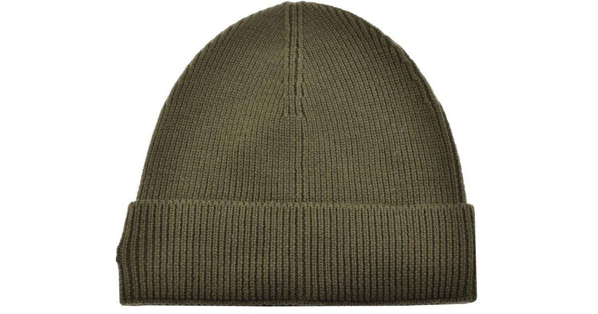 d94f09ce408 Lyst - Lacoste Ribbed Beanie Green in Green for Men
