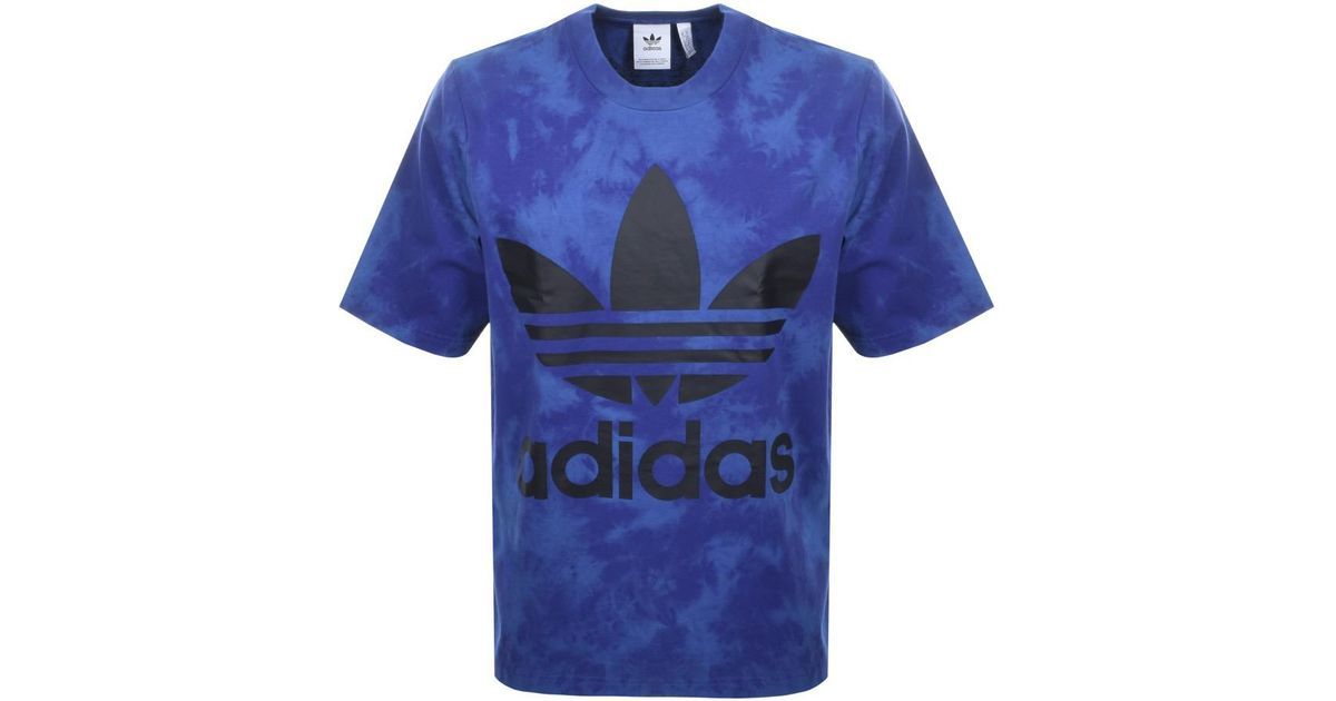Lyst - adidas Originals Oversized Tie Dye T Shirt Blue in Blue for Men
