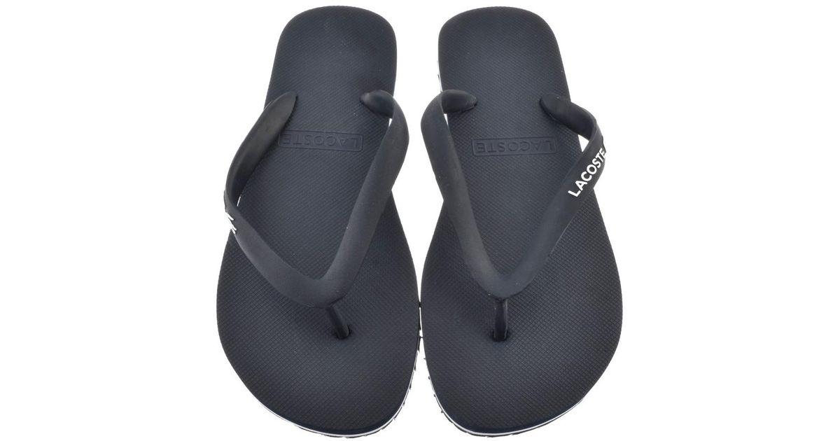 72a35f205810c1 Lacoste Nosara Flip Flops Navy in Blue for Men - Lyst