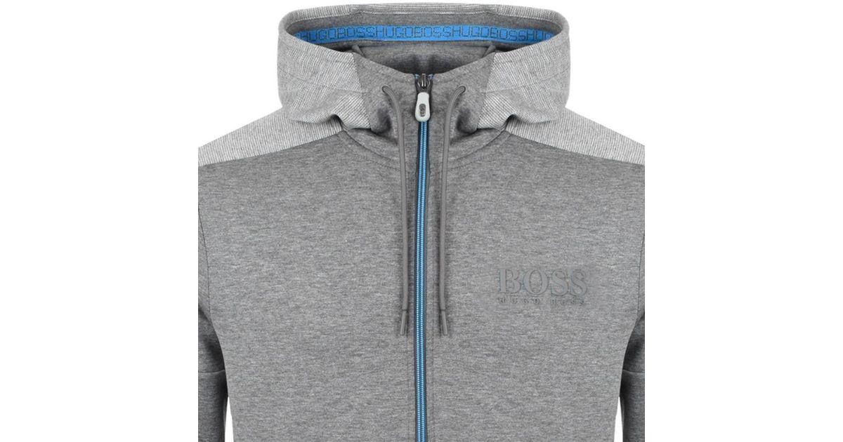 144d389e1 BOSS Athleisure Boss Green Saggy Full Zip Hoodie Grey in Gray for Men - Lyst