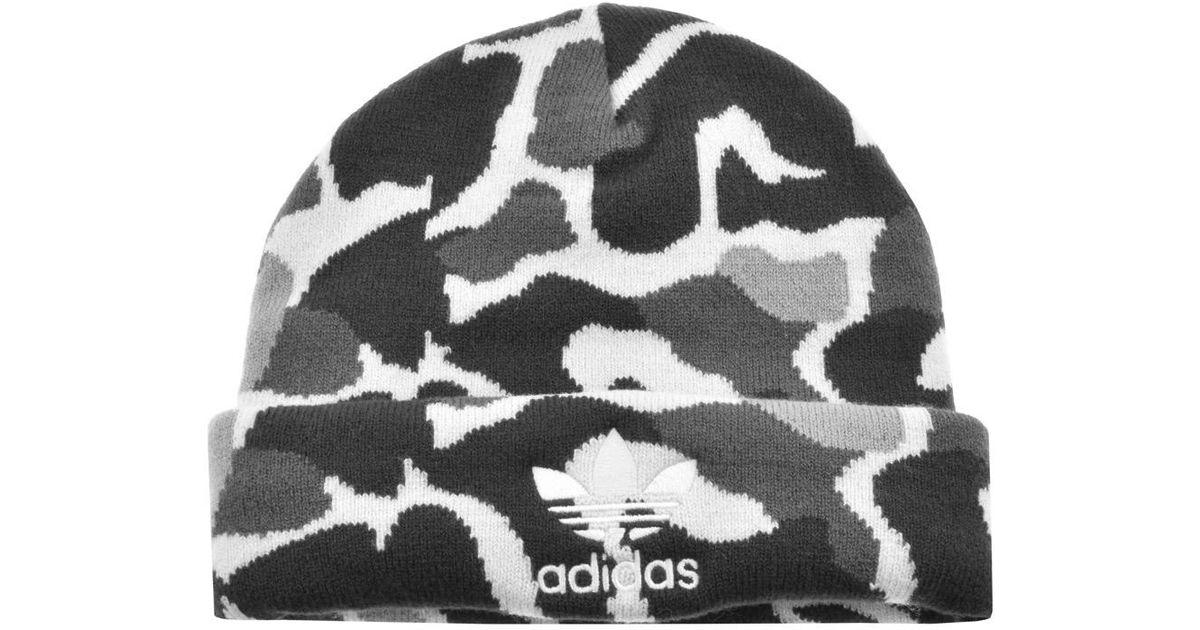 e233358fd Adidas Gray Originals Camouflage Beanie Hat Grey for men