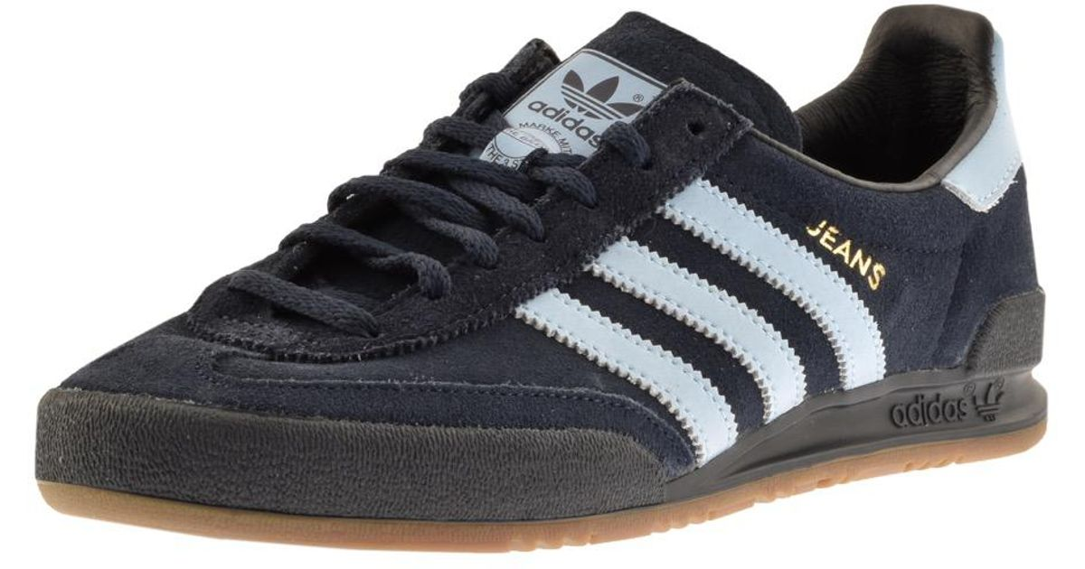 buy popular 10432 8a574 Adidas Originals Jeans Trainers Navy in Blue for Men - Lyst