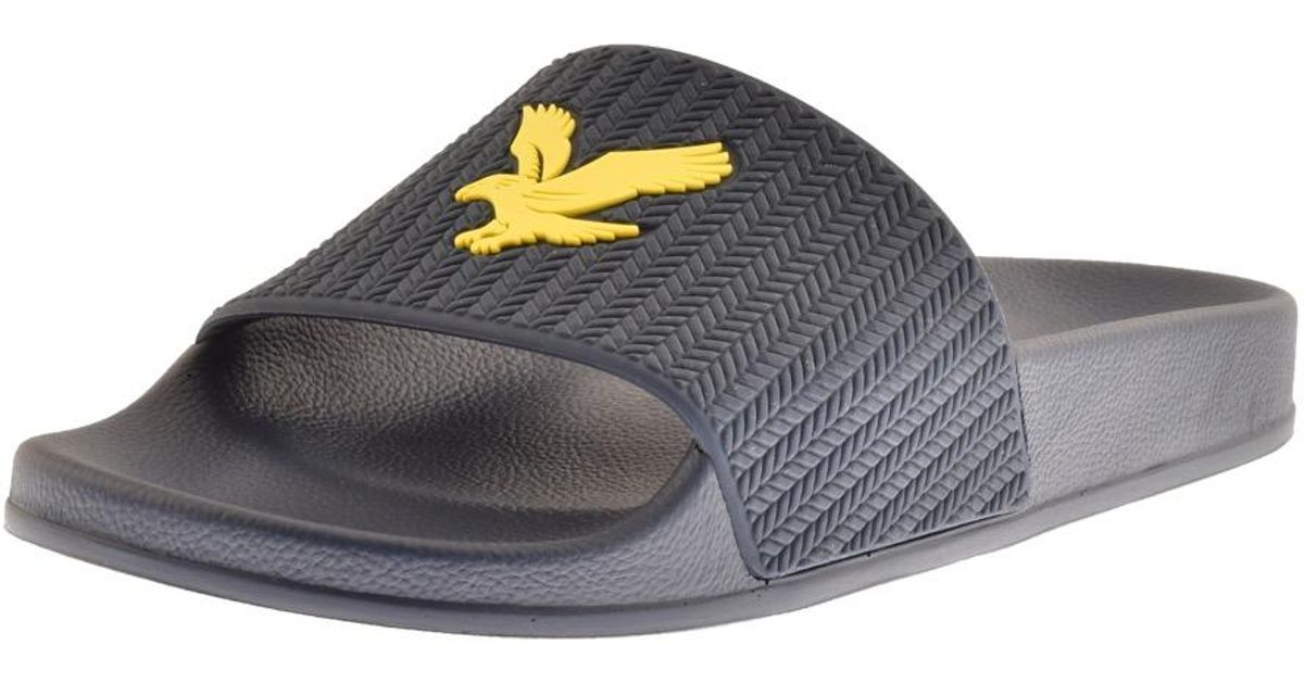 b6fd1e5884b7 Lyle   Scott Lyle And Scott Thomson Sliders Navy in Blue for Men - Lyst