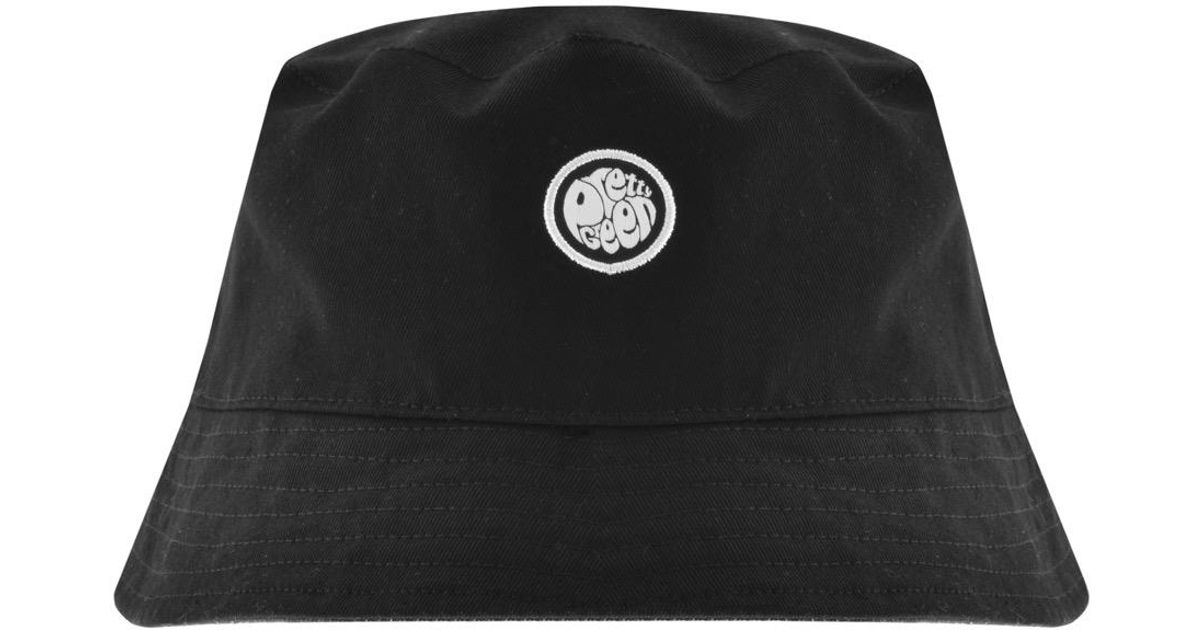 4daae7e871d Pretty Green Reversible Owsley Bucket Hat Black in Black for Men - Lyst
