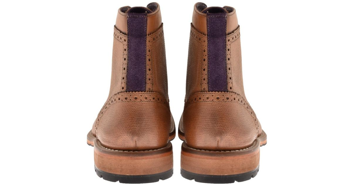 34b67cbef242c Lyst - Ted Baker Sealls 3 Leather Brogue Boots Brown in Brown for Men