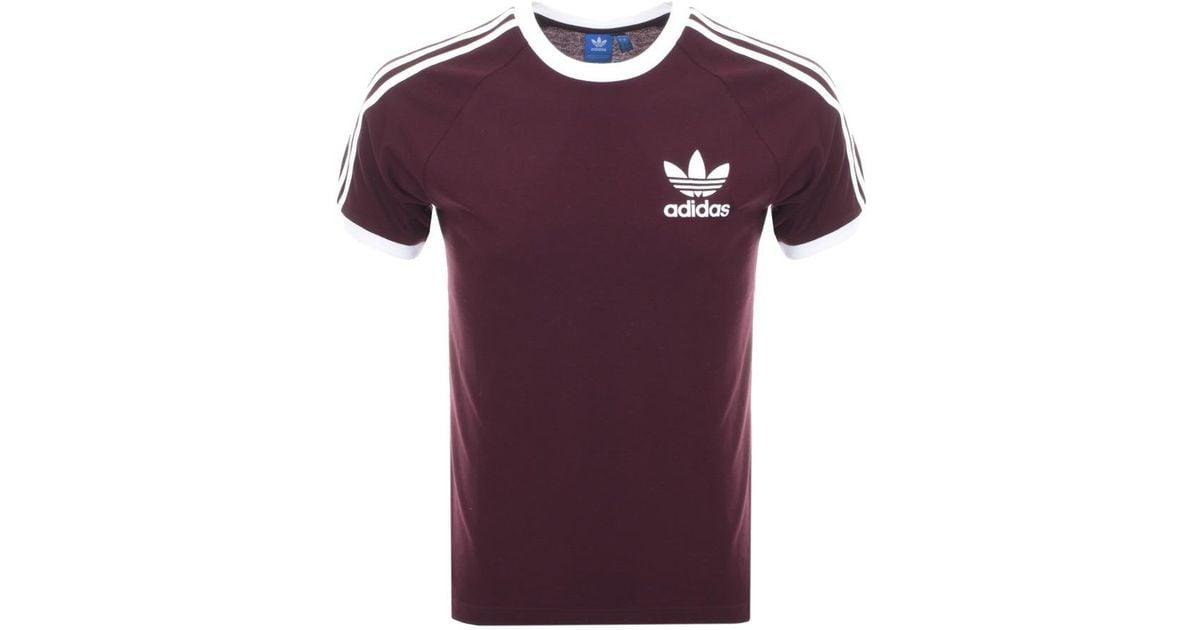 4321d0c4a adidas Originals California T Shirt Burgundy in Purple for Men - Lyst