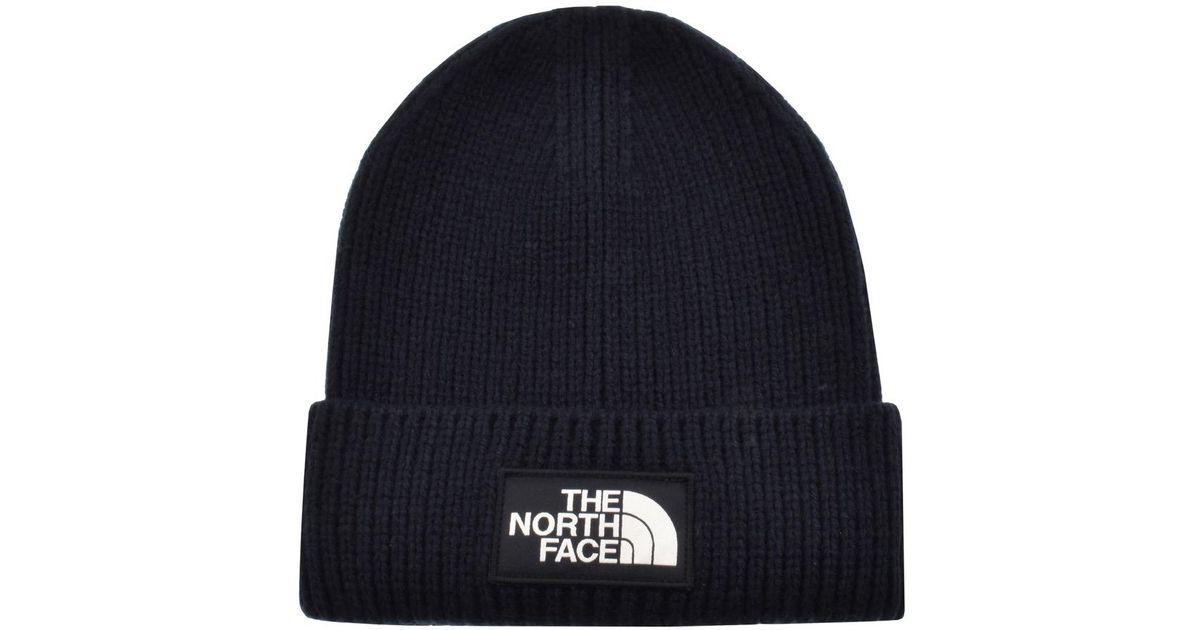 The North Face Logo Beanie in Blue for Men - Lyst dcd5564ea48e