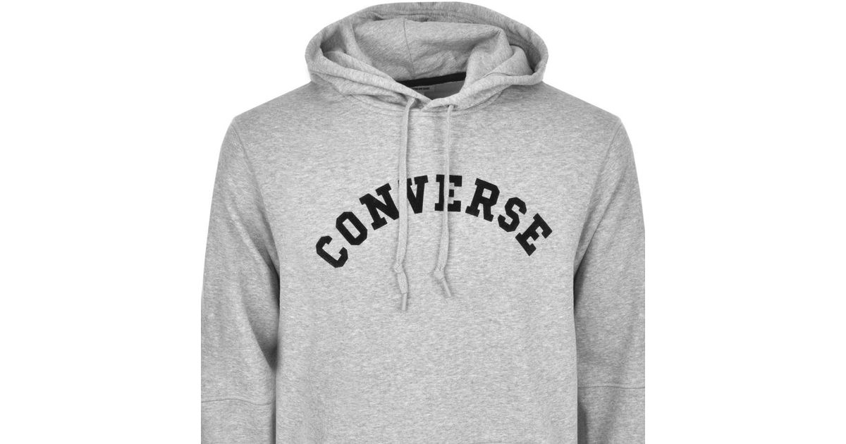 8a4e9ee01186 Converse All Star Logo Hoodie Grey in Gray for Men - Lyst