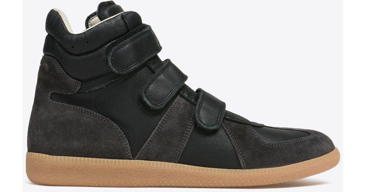 Replica In Lyst Velcro Top Maison Margiela Sneakers Black High FKJcl1