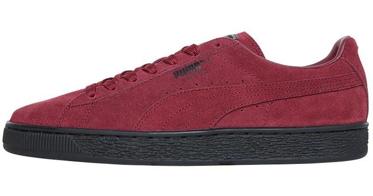 a54d94ebf84e51 PUMA Suede Classic Trainers Cordovan black in Red for Men - Lyst