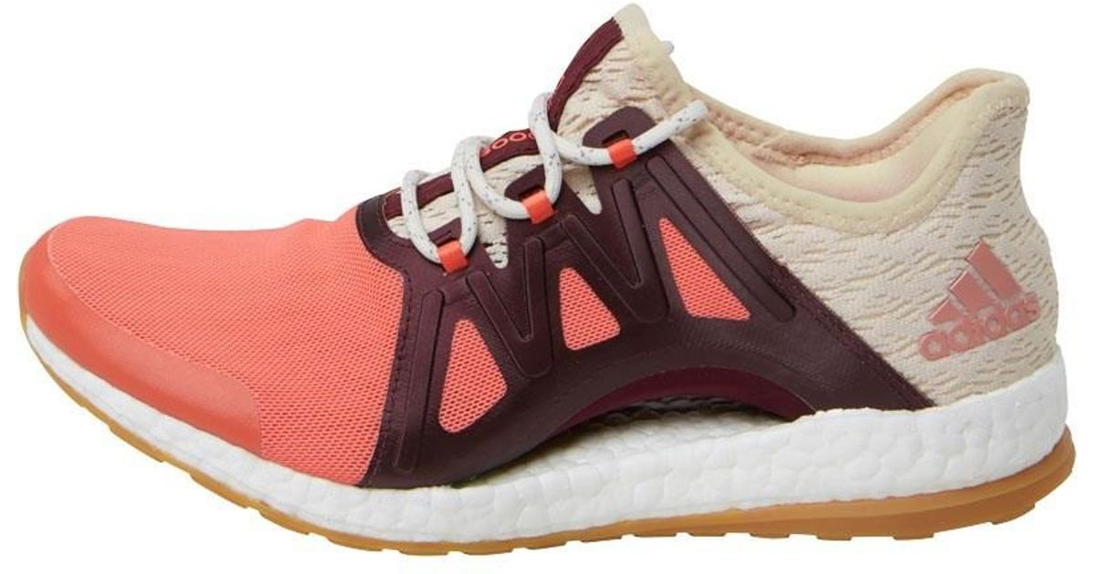 0b48c1aa51d92 ... new zealand adidas pureboost xpose clima running shoes easy coral linen  maroon in pink lyst 785ba