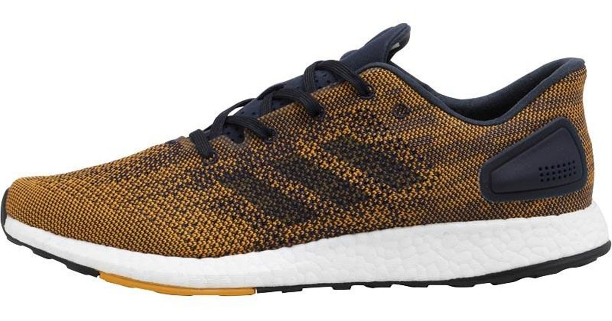 adidas Pureboost Dpr Neutral Running Shoes Noble Ink noble Ink tactile  Yellow in Blue for Men - Lyst 7ce7abe7d1c6