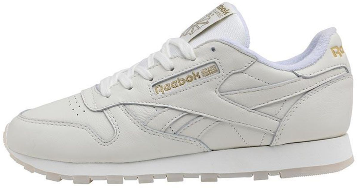 b16ad3bede7 Reebok Leather Gm Trainers Chalk lucid Lilac gold Metallic in Metallic -  Lyst