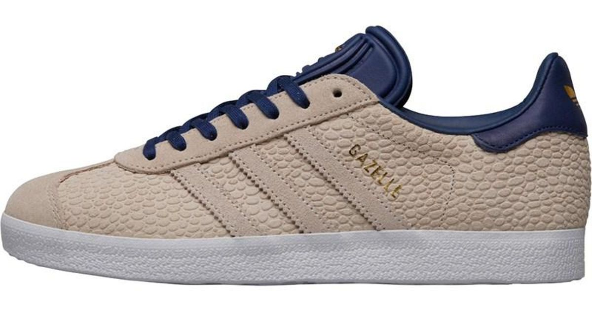 big sale 3a7c7 8f14d Adidas Originals Gazelle Trainers Linenlinennoble Indigo in Blue - Lyst