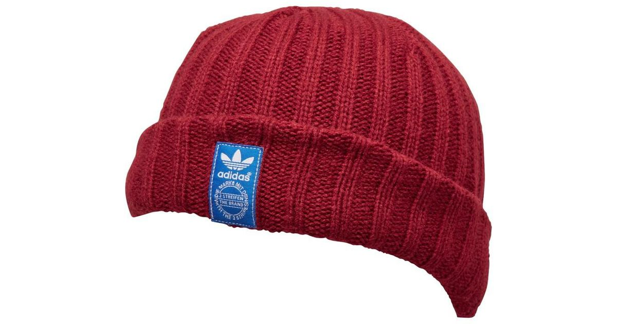 timeless design c1be1 aae1f adidas Originals Fisherman Style Beanie Rust Red bluebird white in Red for  Men - Lyst
