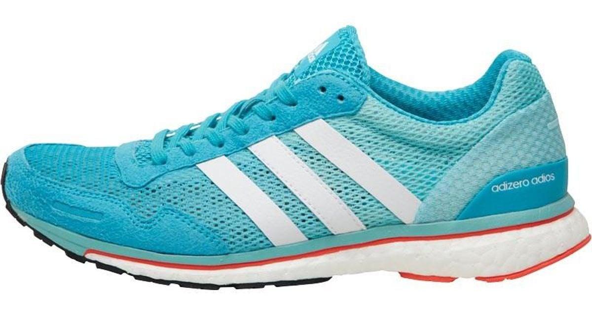 796506216 adidas Adizero Adios Boost 3 Lightweight Neutral Running Shoes Energy  Blue white easy Mint in Blue - Lyst