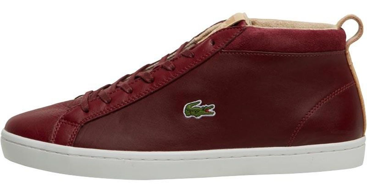 e3b0905953fc3d Lacoste Straightset Chukka Trainers Red natural in Red for Men - Lyst