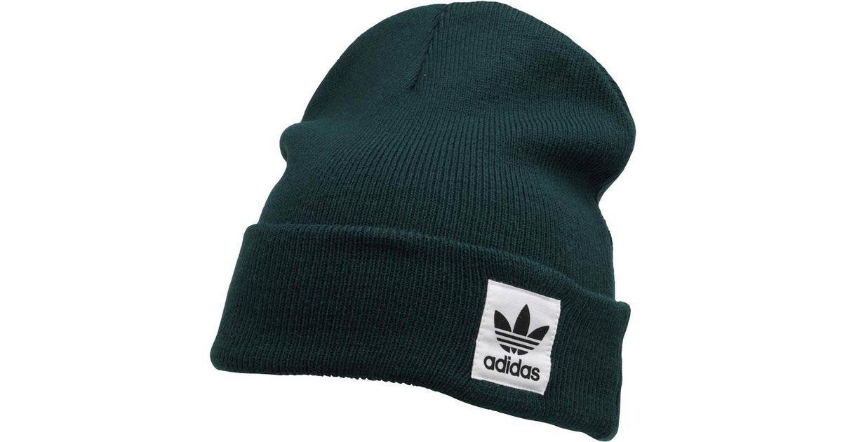 adidas Originals Logo Beanie Green Night in Green for Men - Lyst ab644a7bd3f