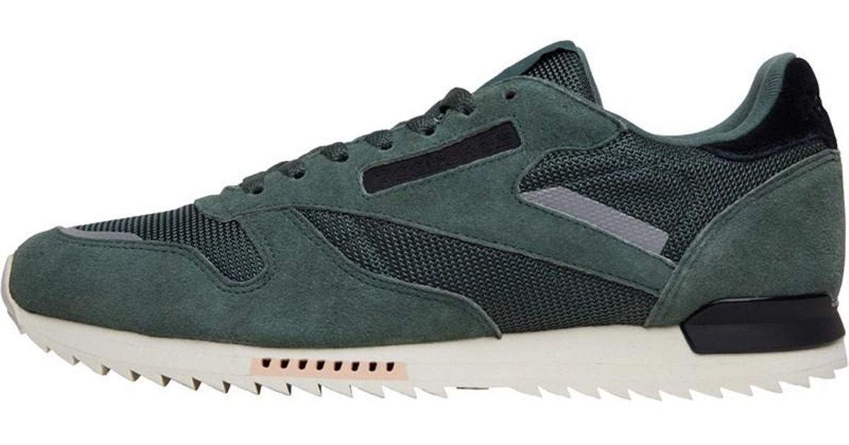 3ebdb954069ff Reebok Leather Ripple Sn Trainers Chalk Green whisper Teal classic White in  Green for Men - Lyst
