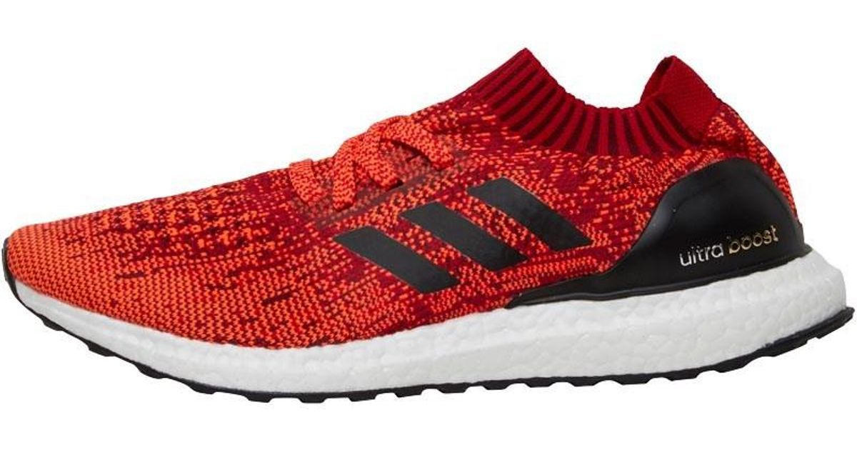 2d1298cb5 adidas Ultra Boost Uncaged Neutral Running Shoes Scarlet solar Red core  Black in Red for Men - Lyst