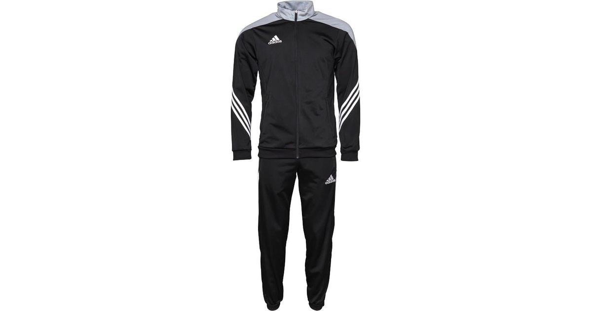 262756d5764b adidas Sereno 14 Presentation Poly Tracksuit Black light Grey in Black for  Men - Lyst