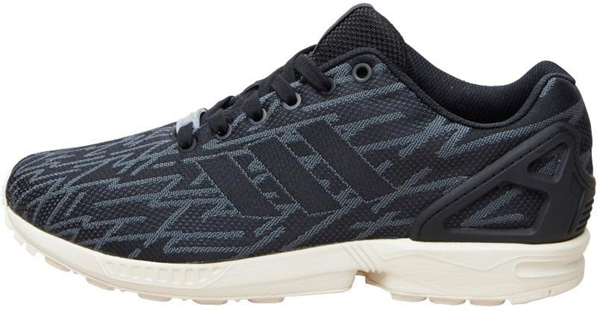 14fa9be8dc628d adidas Originals Zx Flux Weave Trainers Core Black light Onix white in Black  for Men - Lyst