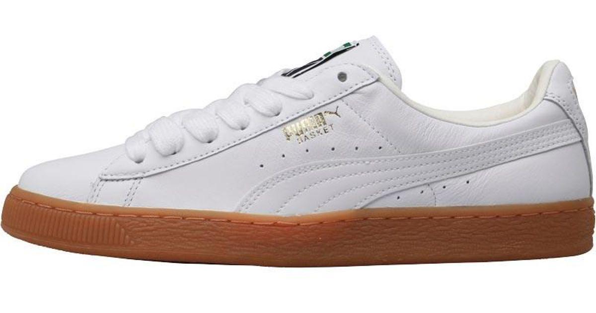 PUMA Basket Classic Lfs Trainers White gum in White for Men - Lyst 46c042b2f