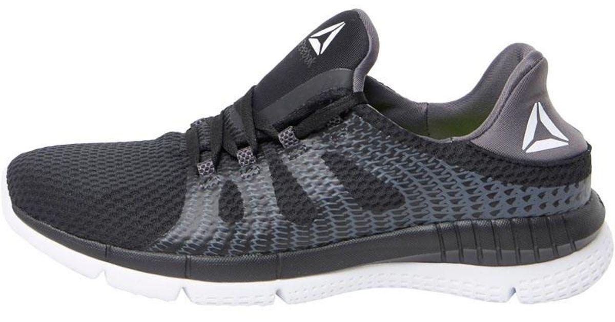 b42a068cf2884f Reebok Zprint Her Mtm Neutral Running Shoes Black ash Grey white in Black  for Men - Lyst