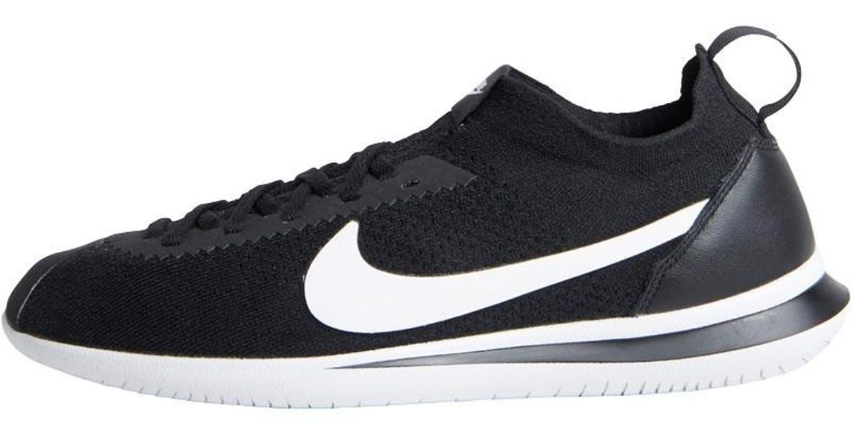8ef1783a2721 Nike Cortez Flyknit Trainers Black white in Black for Men - Lyst