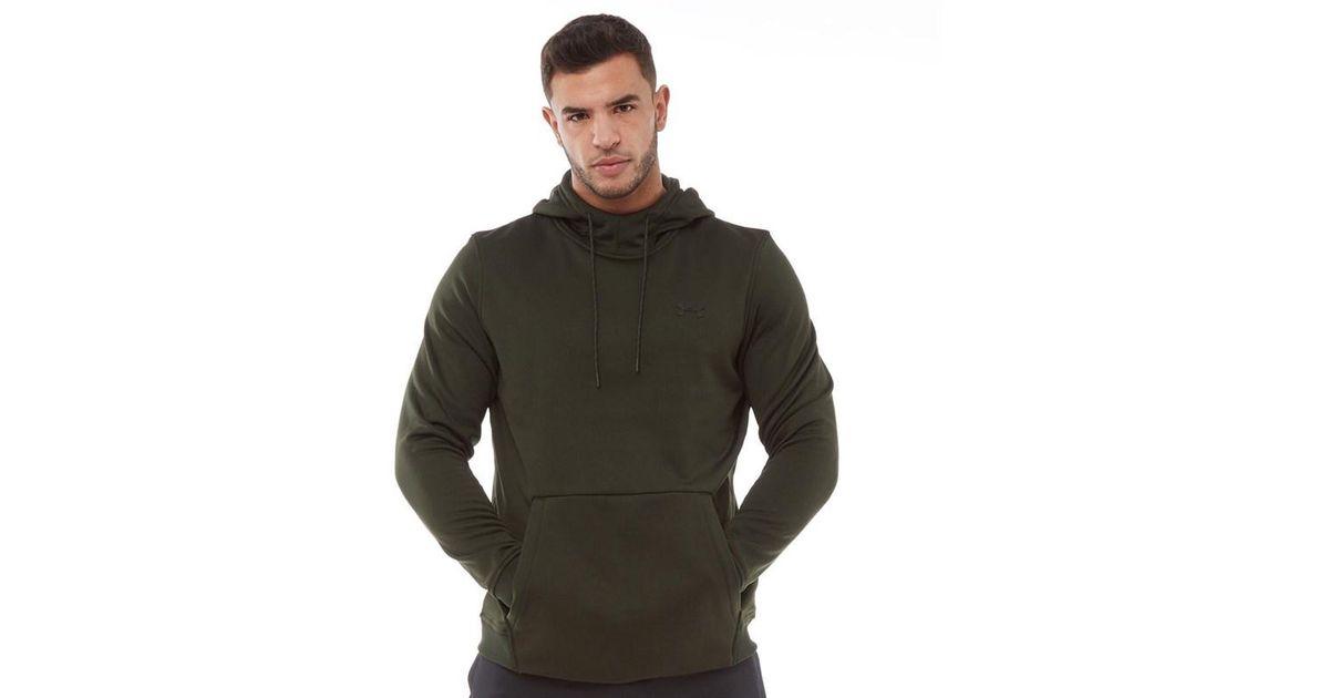 728fdfe3f Under Armour Coldgear Armour Fleece Hoodie Artillery Green/black in Green  for Men - Lyst