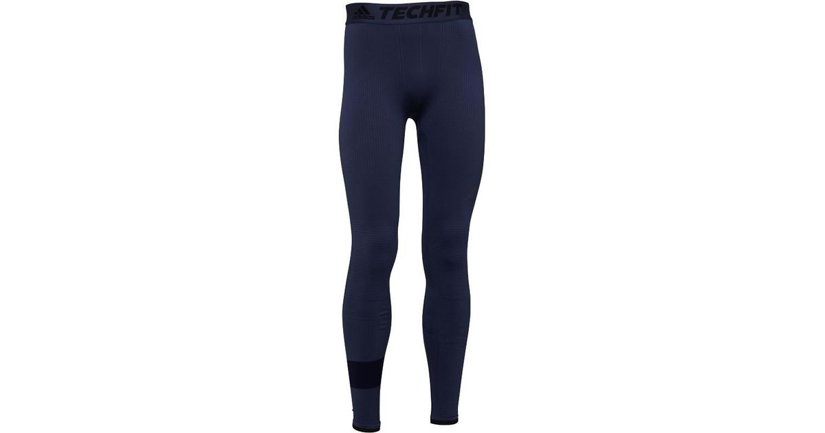 aa6033ab8caeb adidas Techfit Climaheat Long Tights Trace Blue in Blue for Men - Lyst