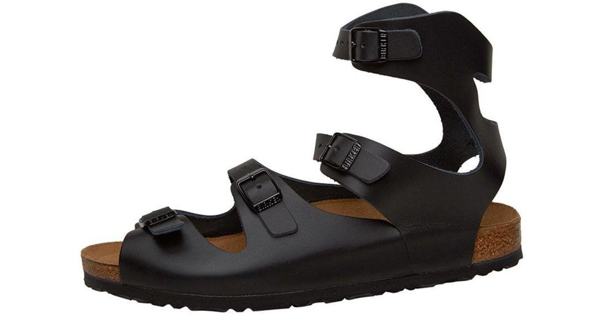 6a07d636b Birkenstock Athen Sandals Schwartz in Black - Lyst