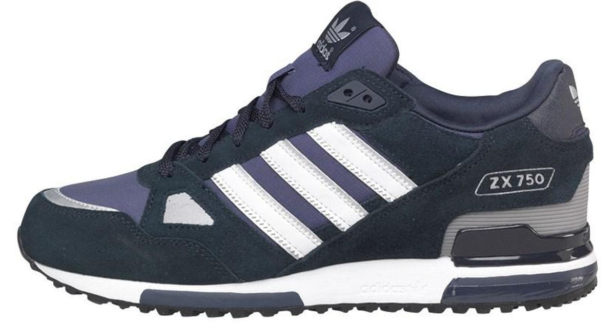 the latest 65754 97ceb adidas Originals Zx 750 Trainers New Navy white in Blue for Men - Lyst