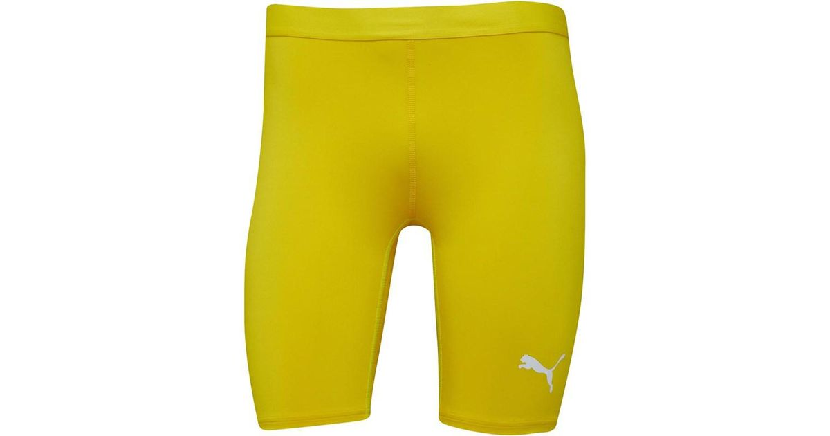 first rate 02d2e 70712 PUMA Tb Compression Short Tights Cyber Yellow in Yellow for Men - Lyst