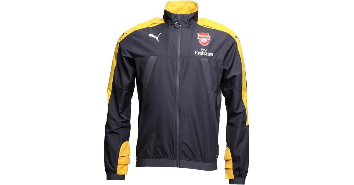 62eded7a5 PUMA Afc Arsenal Vent Thermo Dwr Windcell Stadium Jacket Ebony/spectra  Yellow in Gray for Men - Lyst