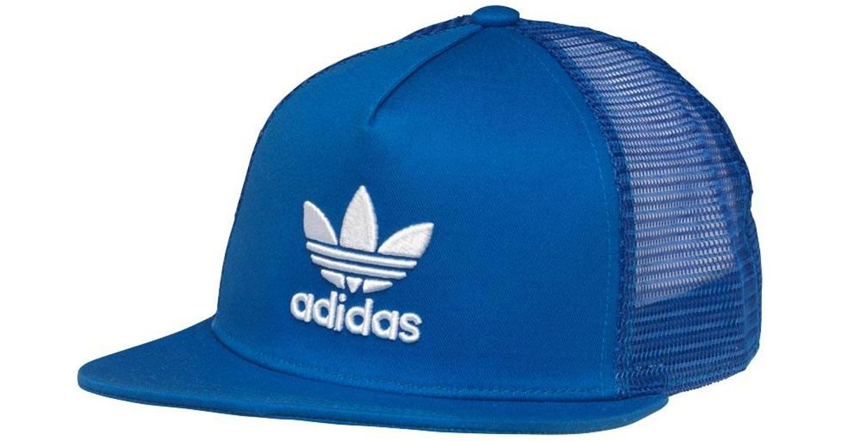 adidas Originals Trefoil Trucker Hat Blue in Blue for Men - Lyst 1978794ceea