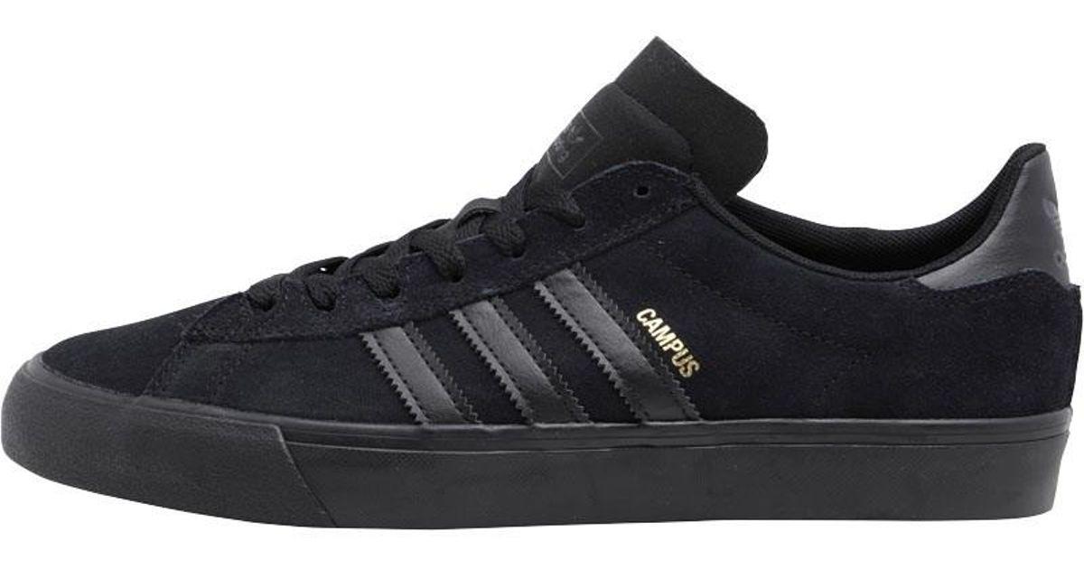 adidas Originals Campus Vulc Ii Trainers Core Black core Black core Black  in Black for Men - Lyst 4cabe9a25