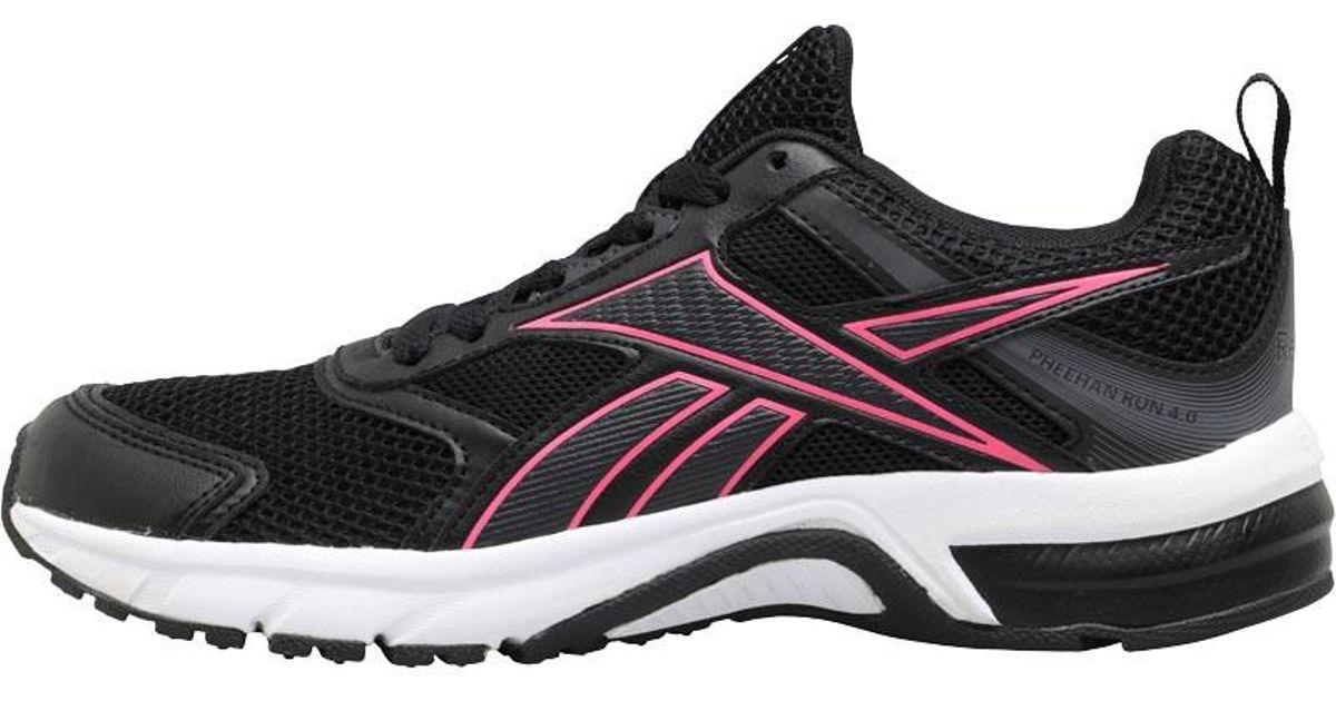 Reebok Pheehan Run 4.0 Neutral Running Shoes Black/coal/white in Black - Lyst