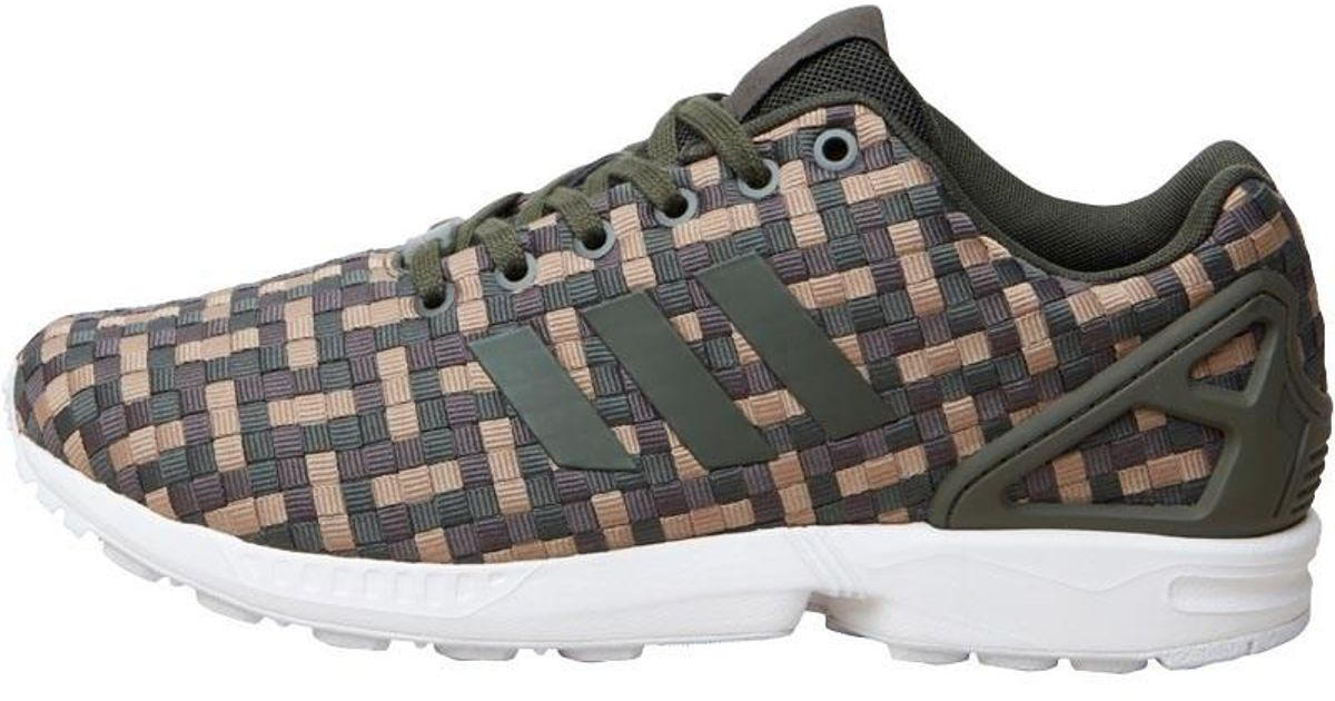 outlet store e8546 b00bb ... denmark adidas originals green zx flux trainers night  cargoumbercardboard.jpeg 47fa9 7d317