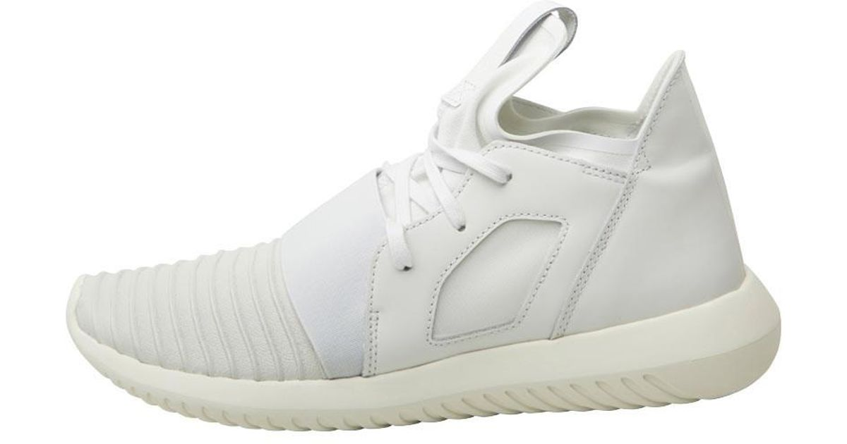 sports shoes 562ee 86b3b adidas Originals Tubular Defiant Trainers Crystal White crystal White off  White in White - Lyst
