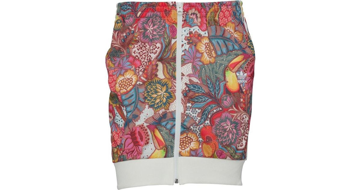 819f23172 adidas Originals X The Farm Company Fugiprabali Track Skirt Multicolour in  Red - Lyst