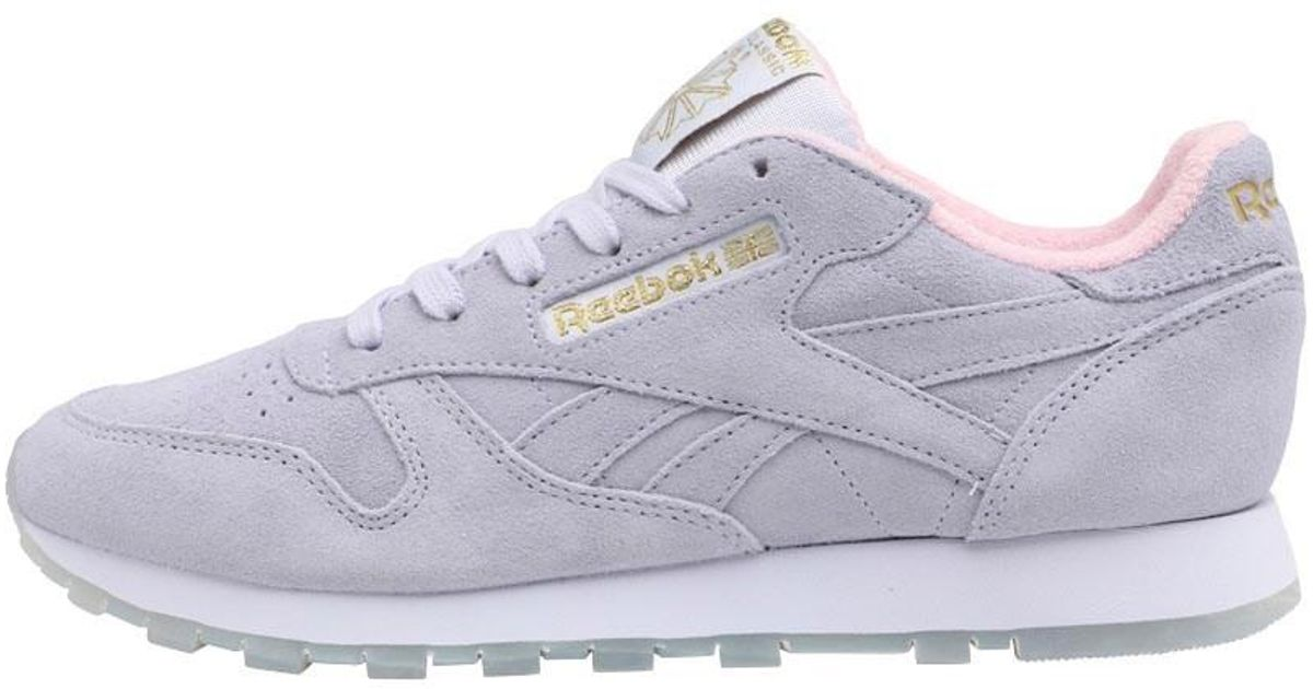 13ee591f4649f8 Reebok Classic Leather Gm Trainers Lucid Lilac charming Pink gold Metallic  in Purple - Lyst