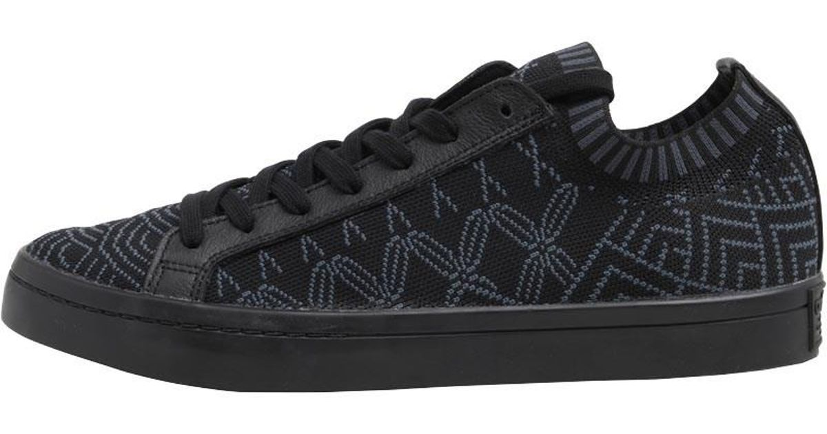 7b870b2c5d7 adidas Originals Court Vantage Primeknit Trainers Core Black core Black core  Black in Black for Men - Lyst