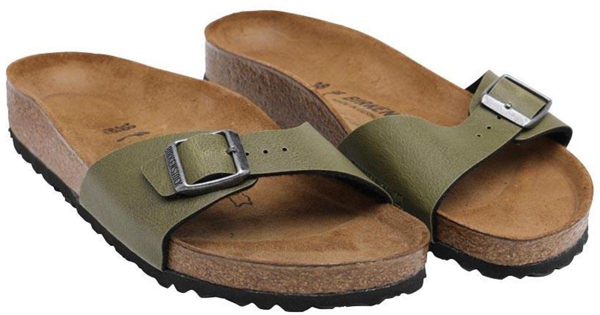 c9adc79bbadf Birkenstock Madrid Birko-flor Pull Up Sandals Green - Lyst