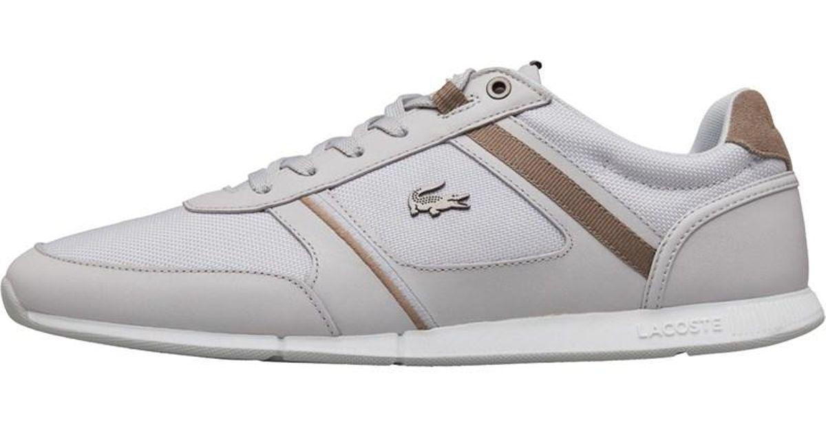 f4218116f Lacoste Menerva Trainers Light Grey in Gray for Men - Lyst